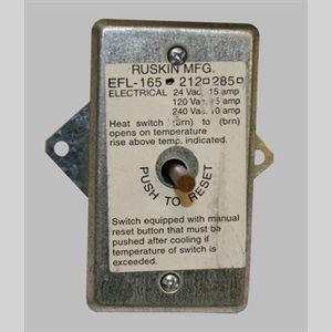 "Ruskin Electric Resettable ""Fuse"" LIN, 165 DEG"