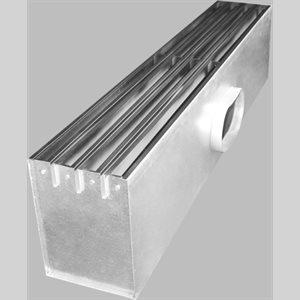 """24"""" x 1"""" - Steel Plenum 2 Slot Diffuser"""
