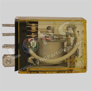 Idec 2-Ploe Lightred Relay, 24VAC