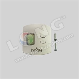 KMC Temperature sensor / transmitter with LCD display; override; and adjustable setpoint